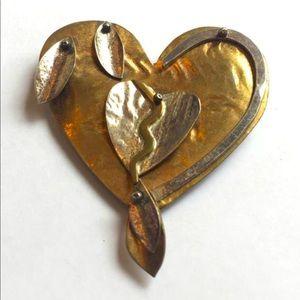 🌸Heart Brooch Artisan Made Jewelry Pin